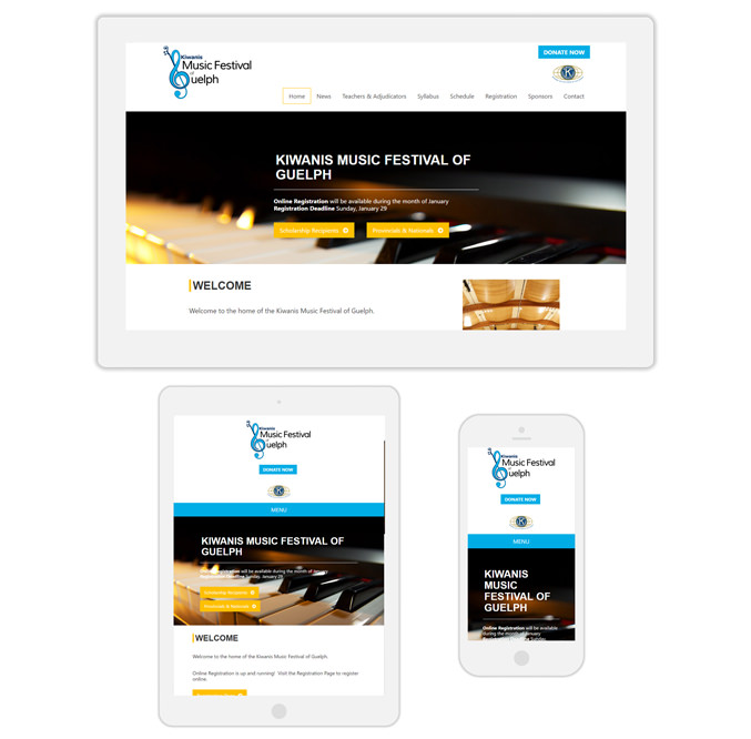 Guelph music festival web design