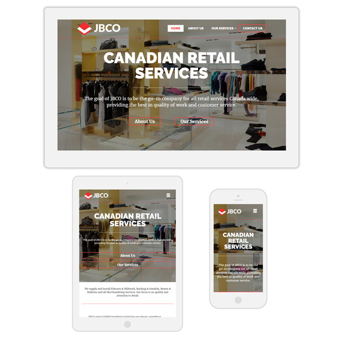 JBCO retail services web design